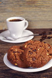 Coffee and chip cookies Royalty Free Stock Image
