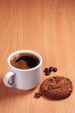 Coffee and chip cookies Stock Images