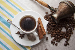 Coffee and choco closeup Royalty Free Stock Photo