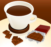 Coffee and chocolate Royalty Free Stock Photos