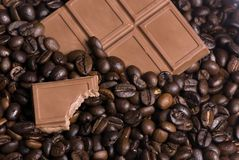 Coffee and Chocolate 2. The best of both worlds...coffee and chocolate Royalty Free Stock Image