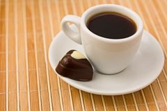 Coffee and chocolate. Stock Photography