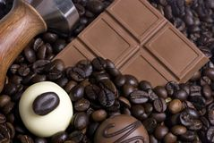 Coffee and Chocolate 3. Two of the best things in life.... Coffee and chocolate Royalty Free Stock Photos