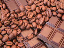 Coffee and Chocolate stock photography
