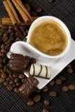 Coffee and chocolate Stock Image
