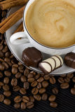Coffee and chocolate Stock Image