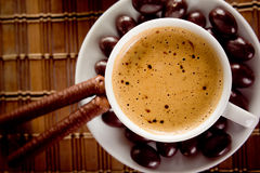 Coffee with chocolate Royalty Free Stock Photography