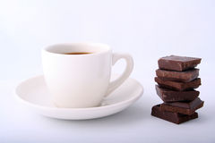 Coffee with chocolate Stock Photography