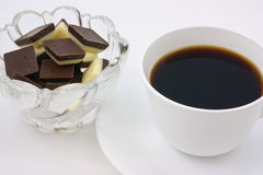 Coffee and chocolate Stock Photo