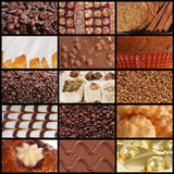 Coffee Chocolate And Sweets Textures Stock Image