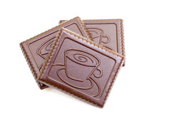 Coffee chocolate biscuits Stock Image