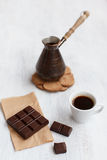 Coffee chocolate breakfast Royalty Free Stock Images