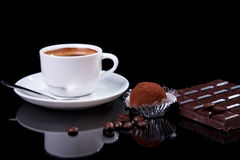 Coffee with chocolate - brigadier Royalty Free Stock Image