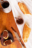 Coffee and chocolate for brunch Stock Photography