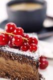Coffee and chocolate cake royalty free stock photo