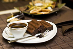 Coffee and chocolate cake Stock Photo