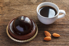 Coffee and chocolate cake Stock Image