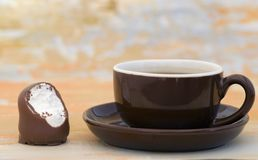 Coffee and Chocolate Candy Stock Photo