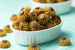 Coffee chocolate chip cookie Stock Photo