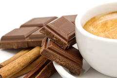 Coffee, chocolate and cinnamon Stock Image