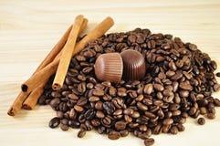 Coffee ,chocolate and cinnamon Stock Photo