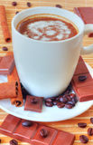 Coffee with chocolate and cinnamon Stock Photography