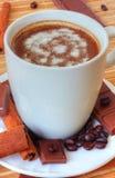 Coffee with chocolate and cinnamon Royalty Free Stock Photo
