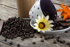Coffee And Chocolate,Close Up. Coffee And Chocolate, close up photo Stock Photos