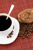 Coffee with chocolate cookies Stock Image