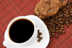 Coffee with chocolate cookies Stock Photo