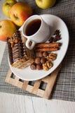 Coffee and chocolate creamy cake Royalty Free Stock Image