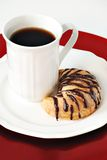 Coffee and chocolate croissant Royalty Free Stock Photography