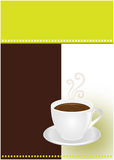 Coffee or chocolate cup. Template design for coffee shop, bar and restaurant Stock Illustration