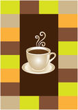 Coffee or chocolate cup. Template for coffee shop, bar and restaurant Royalty Free Stock Photo