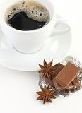 Coffee with chocolate and dry breakfast Stock Images