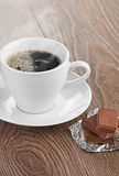 Coffee with chocolate and dry breakfast Royalty Free Stock Image