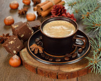 Coffee and chocolate fudge Royalty Free Stock Photo