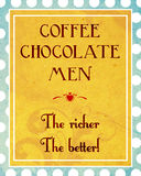Coffee, chocolate, men, the richer the better Stock Photos