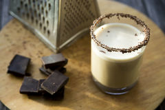 Coffee chocolate milk alcoholic cocktail royalty free stock photo