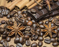 Coffee and chocolate Royalty Free Stock Photography