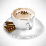 Coffee with chocolate pieces Royalty Free Stock Images