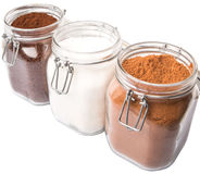Coffee, Chocolate Powder And Sugar VIII Royalty Free Stock Images