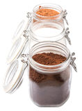 Coffee, Chocolate Powder And Sugar X Stock Images