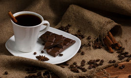 Coffee, chocolate and spices Royalty Free Stock Photo