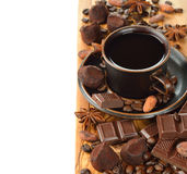 Coffee, chocolate and spices Royalty Free Stock Image