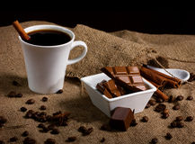 Coffee, chocolate and spices Royalty Free Stock Images