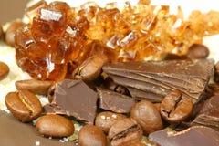 Coffee, chocolate and sugar Royalty Free Stock Image