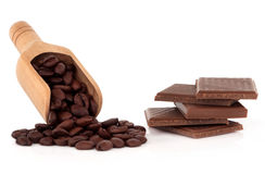 Coffee and Chocolate Temptation Stock Image