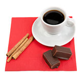 coffee, chocolate and vanilla Royalty Free Stock Photo
