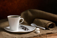 Coffee with chocolate Royalty Free Stock Photos